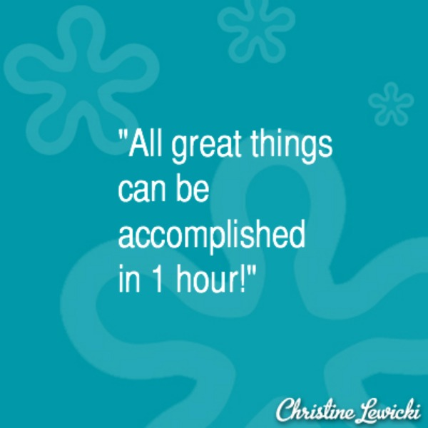 All great things in 1 hour