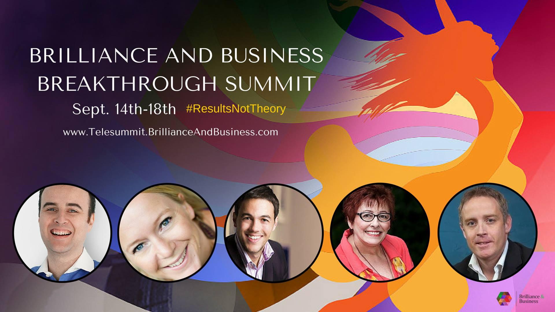 Brilliance Business Breakthrough Summit Banner