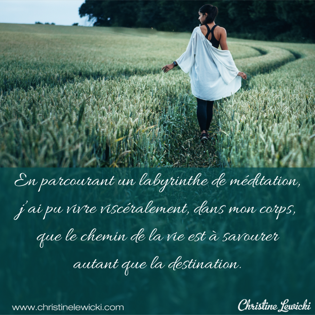 Labyrinthe méditation ; wake up ; christine lewicki ; développement personnel