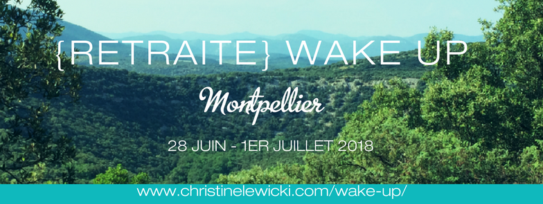 Retraite WAKE UP ; christine lewicki ; développement personnel ; coaching