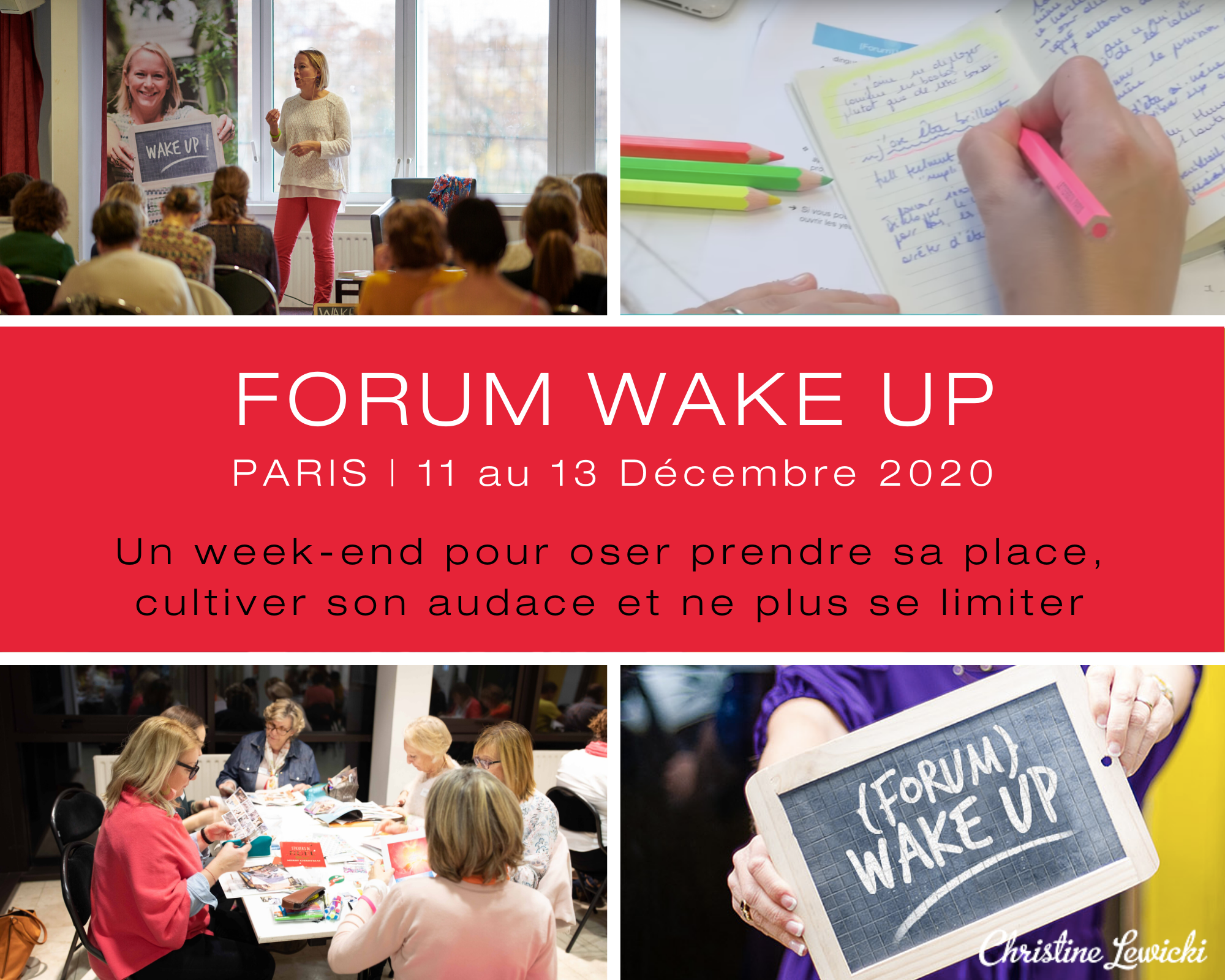 Forum Wake UP, Developpement Personnel, Christine Lewicki, Activer talents