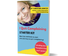 I Quit Complaining Starter Kit, I Quit Complaining Movement, Christine Lewicki