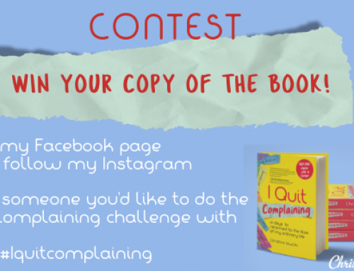 Win the I Quit Complaining book!