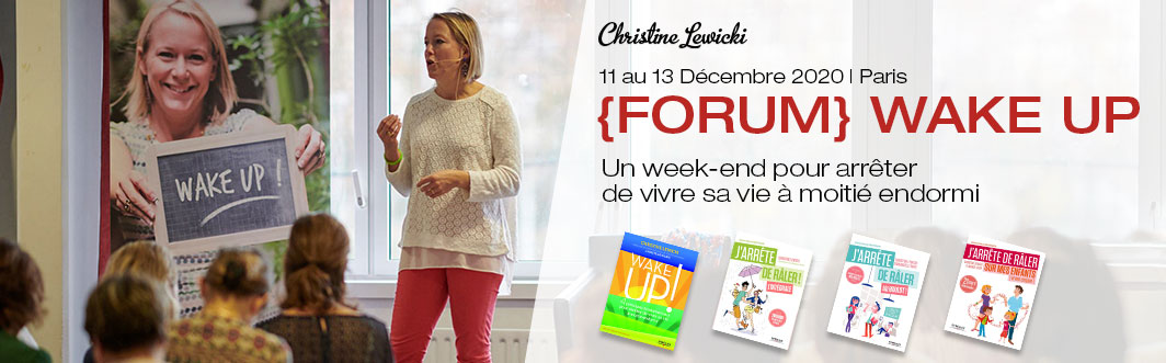 Forum Wake Up, Developpement Personnel, Christine Lewicki