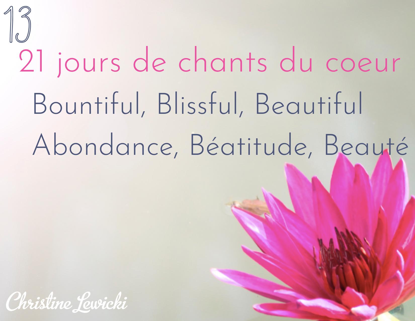 Bountiful, Blissful, Beautiful