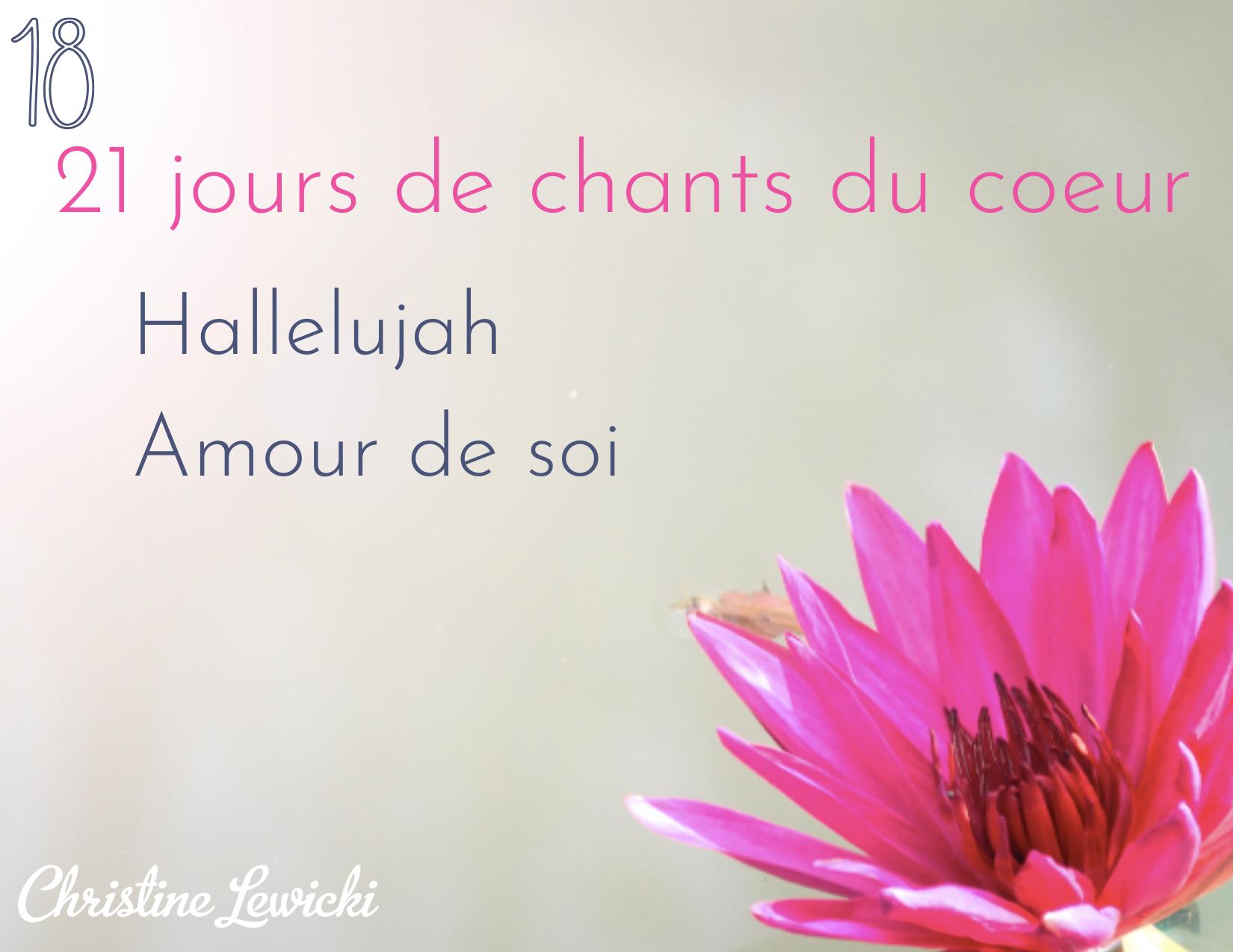 Hallelujah - Amour de soi