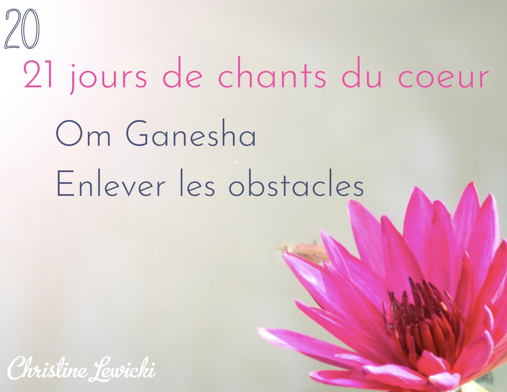 Om Ganesha - enlever les obstacles